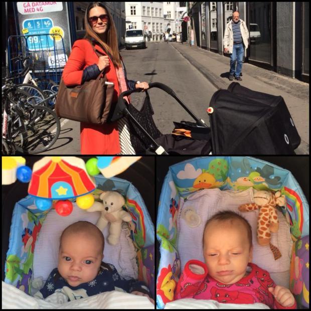 På vej til Rådhuset! Berta og Hugo har fået nyt pynt fra Småfolk i vognen, så for dem er hver dag en fest!